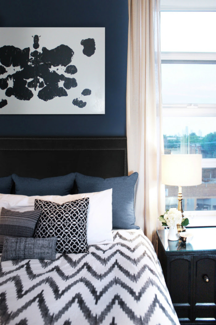 Master Bedroom Inspiration: Navy Walls - Lemon Thistle