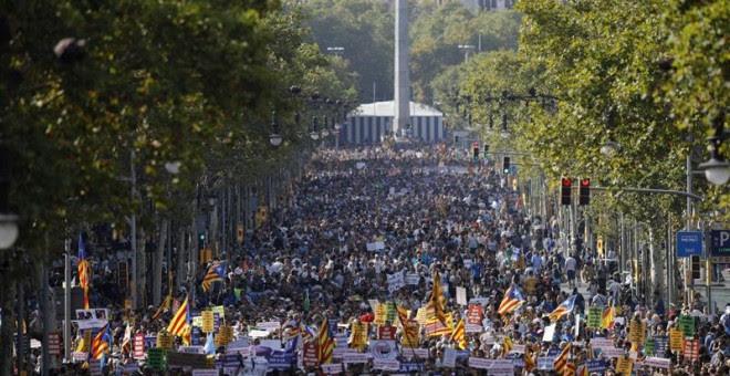 Manifestació al Passeig de Gràcia de Barcelona amb el lema 'No tinc por'