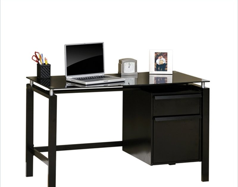 Studio Rta Lake Point Desk In Black Black Glass Bedroom Furniture