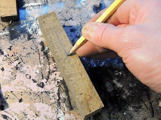 Cutting out spatula handle blocks