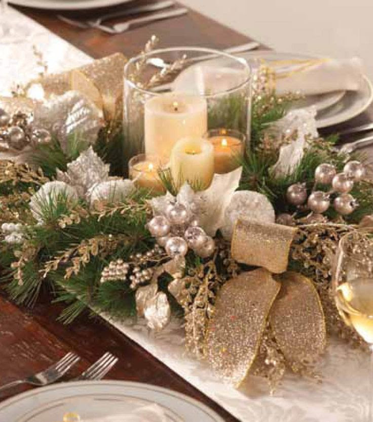 This champagne table arrangement makes an elegant centerpiece!