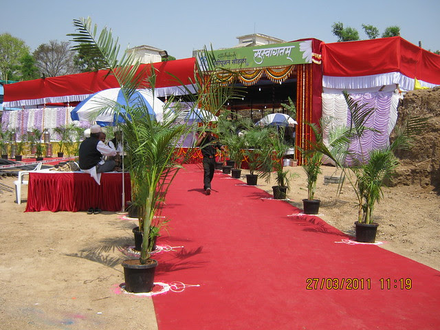 Pandal for Bhoomi Poojan of DSK Gandhakosh Baner Pune 411 045