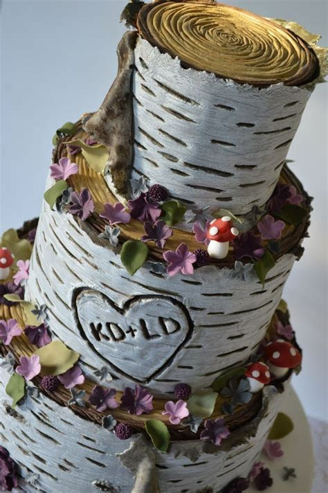 wedding cakes with birch trees   Google Search   Cake