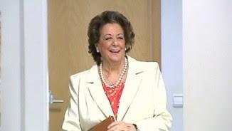 Rita Barberà poc abans de la compareixença informativa que va fer dijous