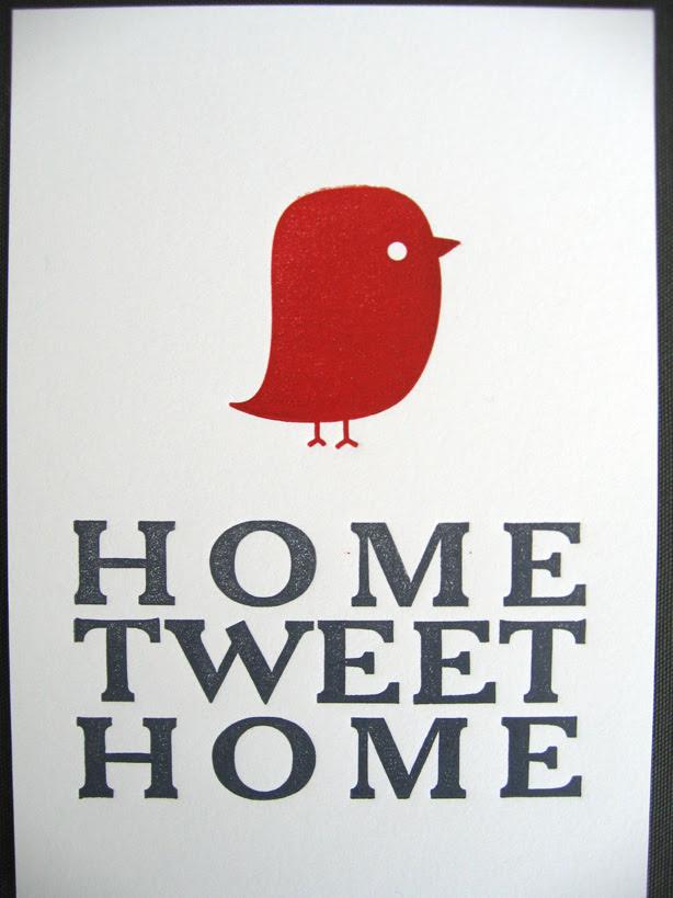 home tweet home print