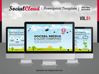 SocialCloud Powerpoint Template V.01 - GraphicRiver Item for Sale
