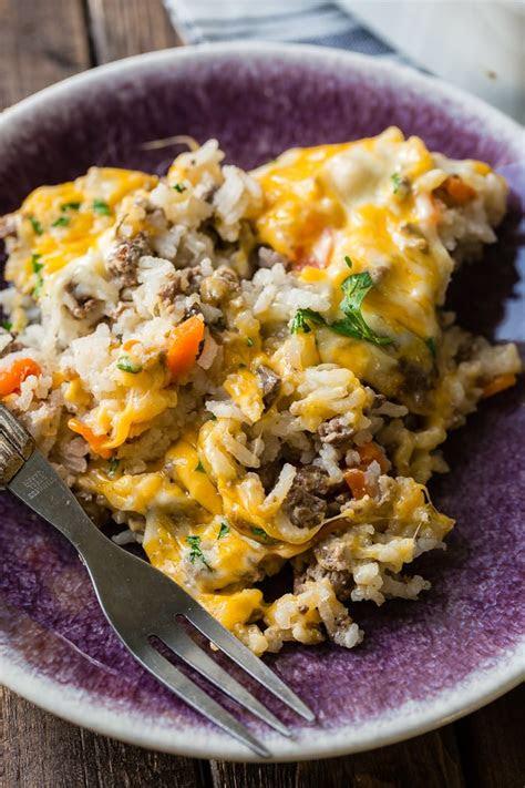 cheesy ground beef  rice casserole  sweet basil