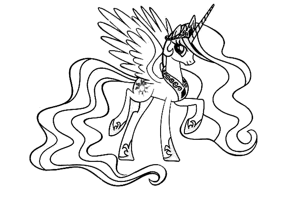 Twilight My Little Pony Coloring Pages At Getcolorings Com Free