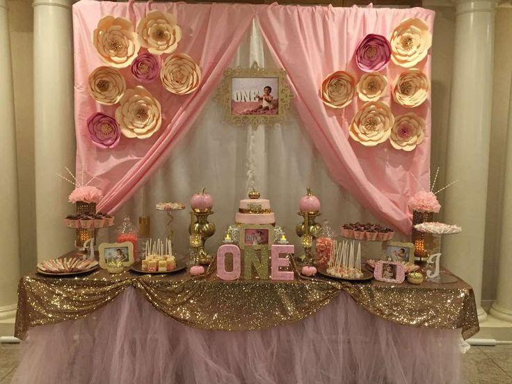 Wedding Theme Pink Gold Birthday Party Ideas 2411518 Weddbook