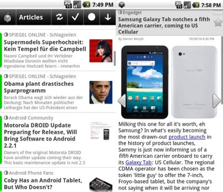 Aplikasi RSS Android news rob