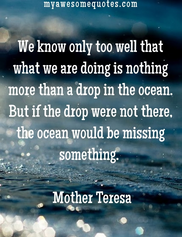 Mother Teresa Quote About Lifes Purpose Awesome Quotes About Life