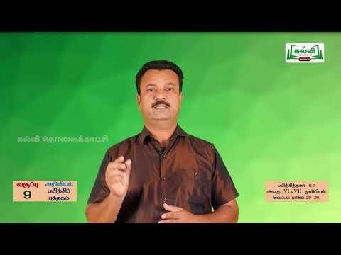 9th Science பயிற்சிப் புத்தகம் ஒளியியல் - வெப்பம் அலகு 6, 7 Kalvi TV