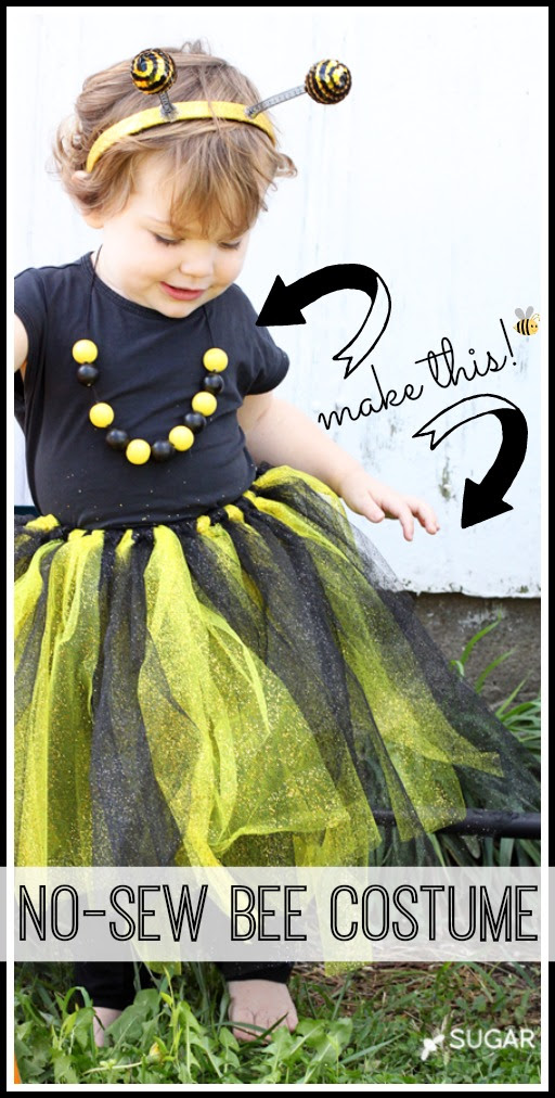 how to make a no sew bee last minute costume
