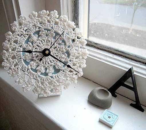 Nice doily clock
