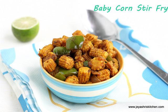 Baby corn stir fry 1