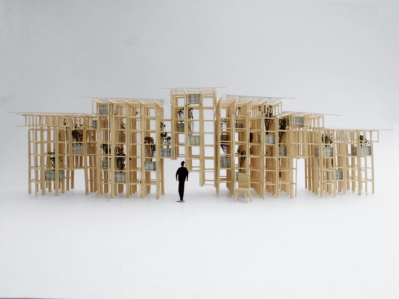 vo trong nghia bamboo wall fugitive structures the sherman contemporary art foundation designboom