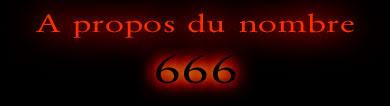 A propos du nombre 666