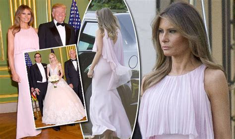 Melania Trump upstages the BRIDE with husband Donald at