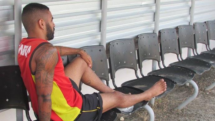 Romarinho atacante Globo FC (Foto: Rhuan Carlos/Divulgação)