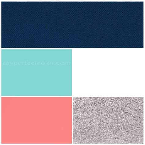 wedding colors navy tiffanypool blue coral silver