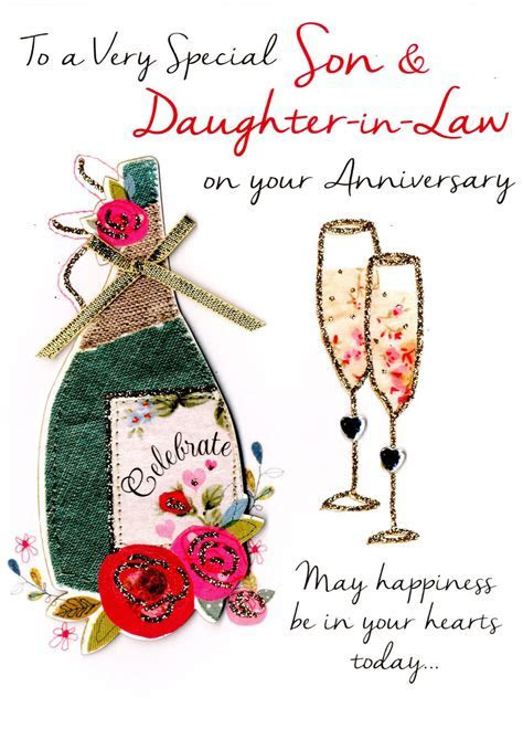 Son & Daughter In Law Anniversary Greeting Card   Cards