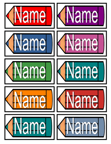 Tray Label_Pencils by White_Lilly2 - Teaching Resources - TES
