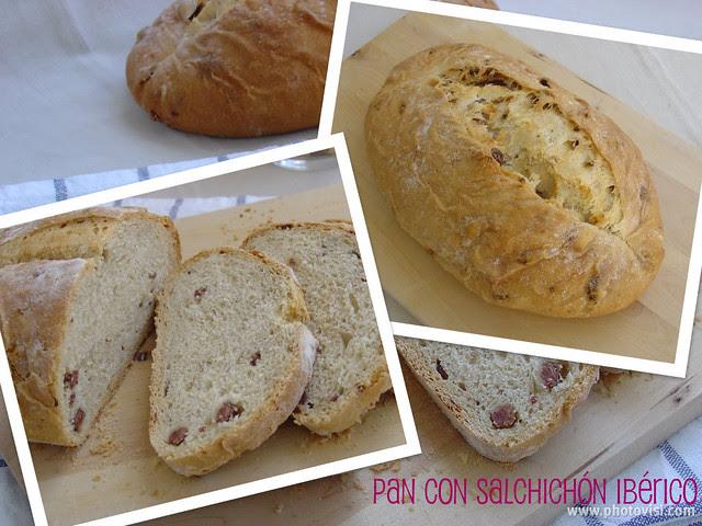 Pan con salchichon ibérico