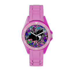 Freckles in Butterflies II - Tuxedo Cat Wrist Watches