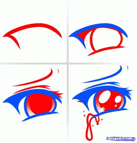draw anime eyes crying step  step  beginners