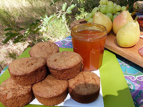 biscuits pomme et confiture d'abricots