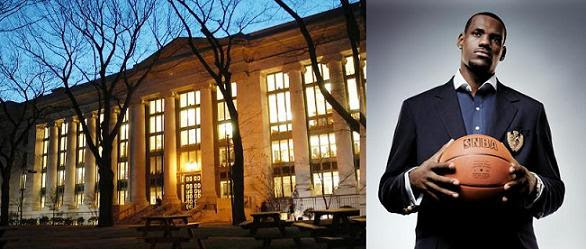Harvard Law School and Lebron James
