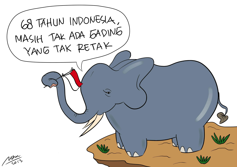 Gambar Kartun Lucu Gajah Terbaru Top Gambar