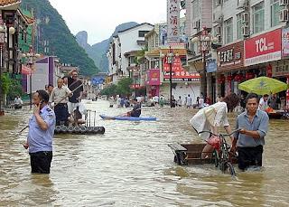 Yangshuo inonde juin 2008