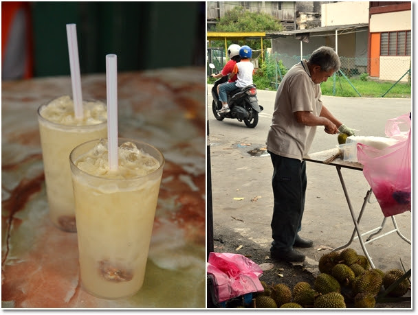 Nutmeg Juice with Sour Plum & Durians