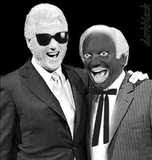 Blog Wars Clinton Lieberman blackface