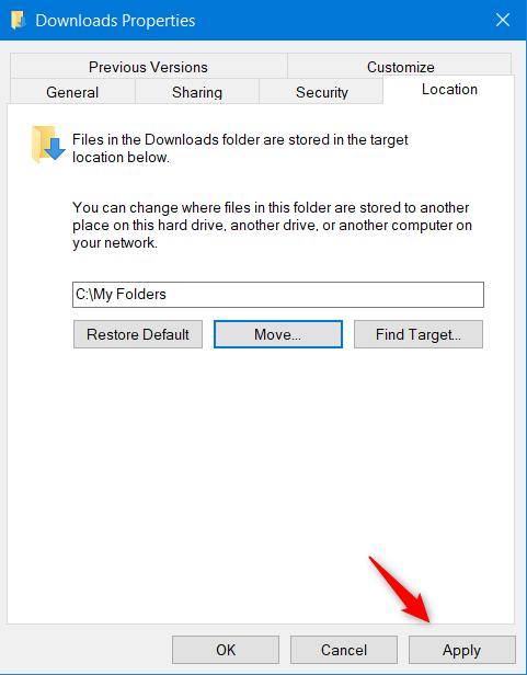 Mover carpeta de usuario de Windows 10