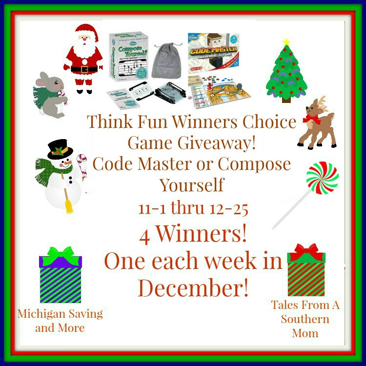 Enter the Think Fun Winners Choice Game Giveaway! Ends 12/25
