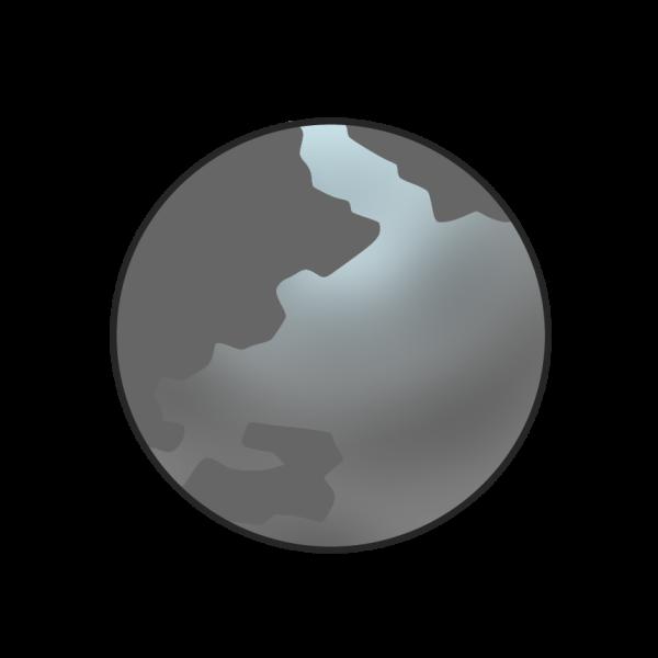 灰色の地球のイラスト かわいいフリー素材が無料のイラストレイン