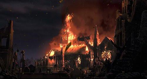 En un momento dado, la Catedral de 1 es atacado por robots de un solo ojo y quemaduras hacia abajo, lo que obligó al grupo a esconderse en la biblioteca en su lugar.  Es difícil encontrar una imagen más reveladora que representa la caída de las religiones en el borde de esta nueva era.