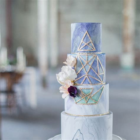 These Geometric Wedding Cakes Will Totally Amaze Your