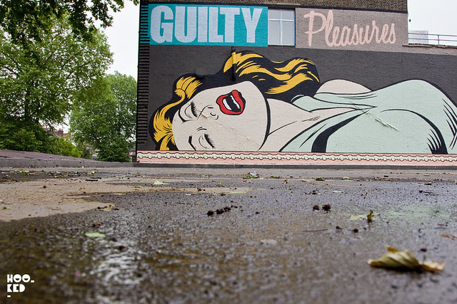 Street Artist D*Face Guilty Pleasures London Mural