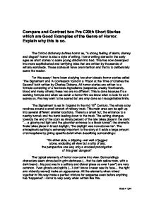 how to write a comparative essay on two short stories