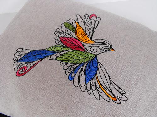 Lofty Nature - Embroidered Bird