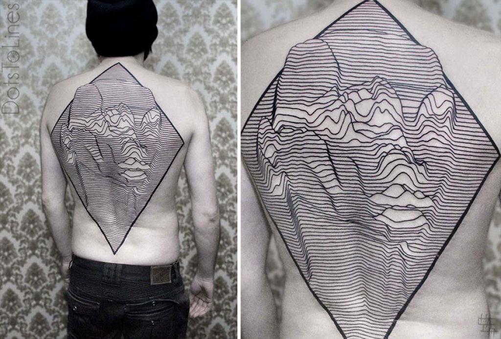 Estas 20 tatuagens lineares geométricas feitas por Chaim Machlev flutuam elegantemente pelo corpo 09