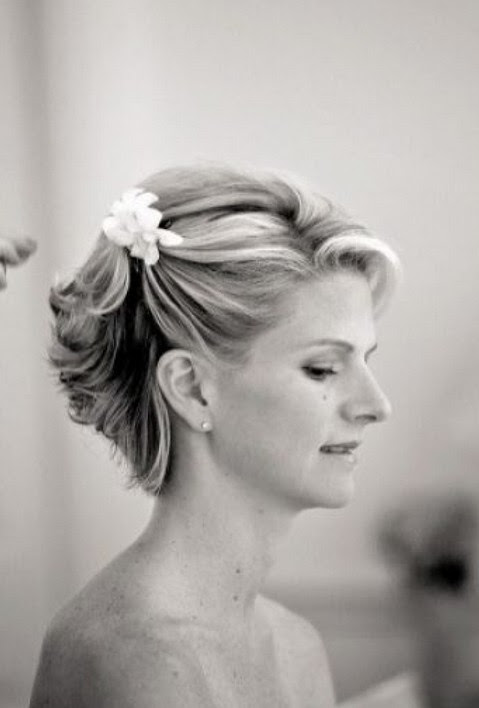 Short  Wedding  Haircuts Romantic Wedding  Updo  for Short