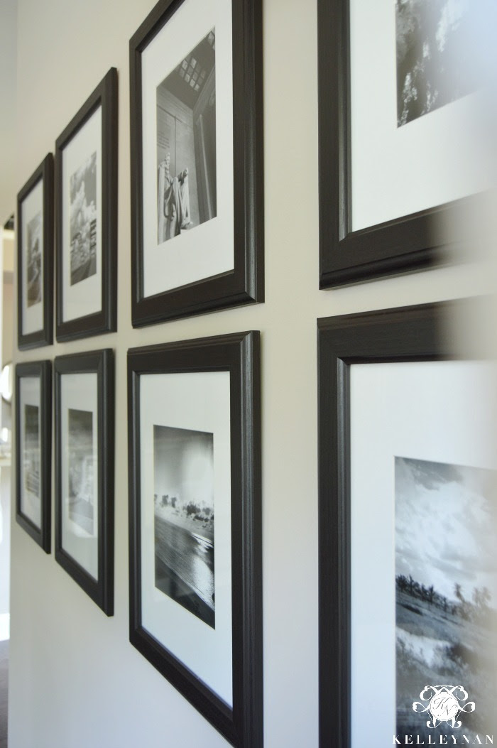 Black And White Travel Gallery Wall And Other Gallery Wall Ideas