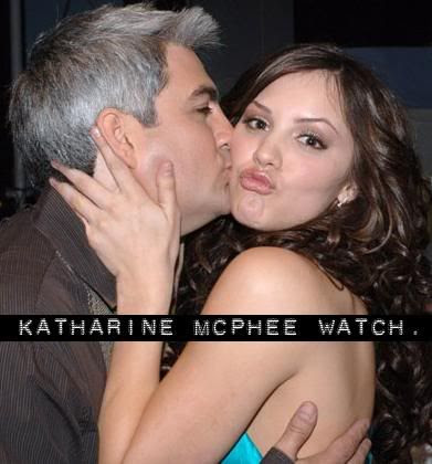 Katharine McPhee and some loser.