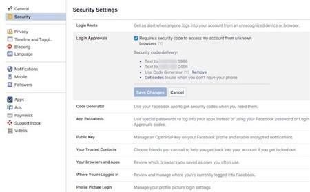 Một số các bảo vệ tài khoản facebook, tránh bị hack