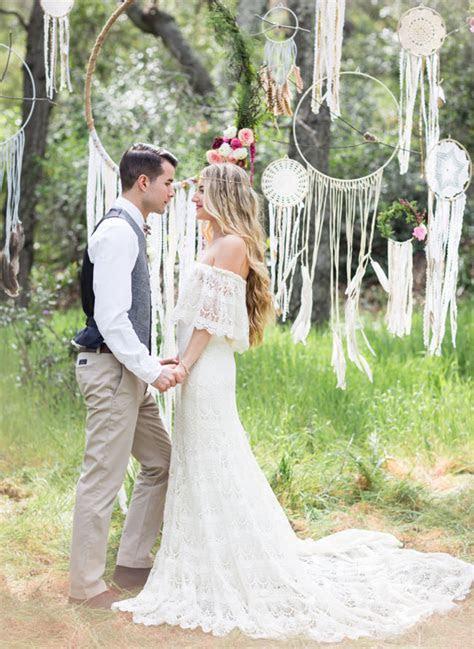 Dreamy Bohemian Wedding Inspiration   Green Wedding Shoes