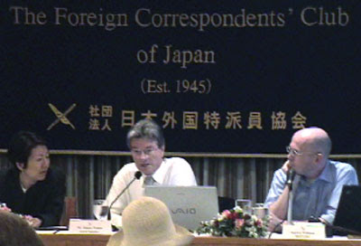 Jimmy Walter at the Foreign Correspondents' Club, Tokyo
